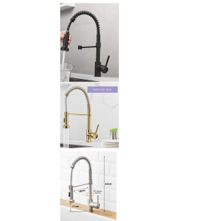 American Style Elegant Gold Hot Cold Kitchen Faucet Rotatable Home Basin Sink Water Tap (FJSQ)