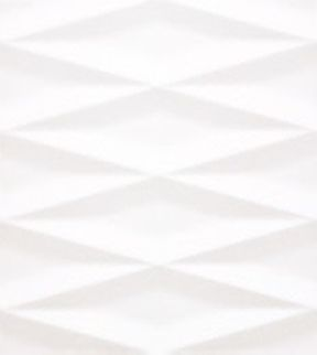 White Mosaic Faux Marble Wall Tile in Backgammon Style