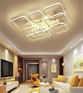 Abstract Modern Aluminum Ceiling Flush Light